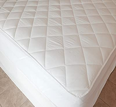 "Extra Deep 40cm (16"" approx) Luxury Quilted Fitted Mattress Protector by Viceroybedding"