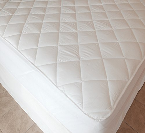 "Super King Size, Extra Deep 40cm (16"" approx) Luxury Quilted Fitted Mattress Protector by Viceroybedding"