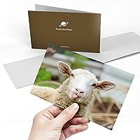 Greeting Card (A5) - Cute Funny Sheep Animals Farmer Farm Blank Greetings Card Birthday Kids Party Boys Girls #8553