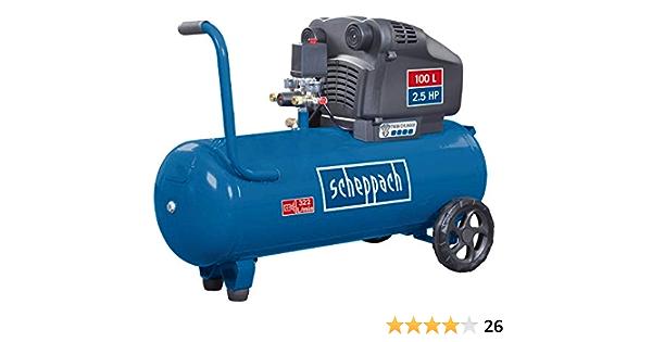 Scheppach Doppelzylinder Kompressor Hc105dc Kesselvolumen 100l 10 Bar 2 5ps 322l Baumarkt