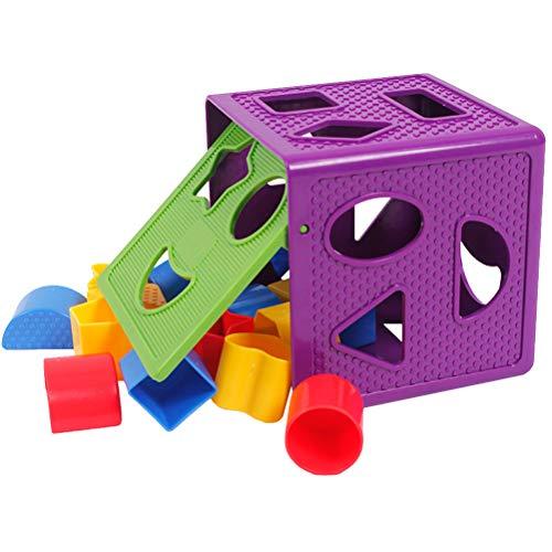 Toyvian Jeu Cubes en Bois Forme boîte Enfants bébé Jouets...