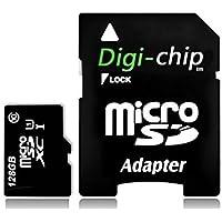Digi Chip 128 GO CLASS 10 UHS-1 MICRO-SD CARTE MÉMOIRE POUR Samsung Galaxy S7 and Samsung S7 Edge