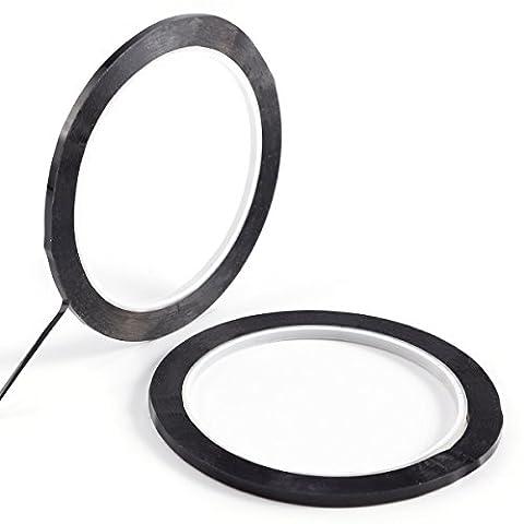 2x ruban adhésif noir 50m x 3mm bande fine pour tableau blanc grille marquage