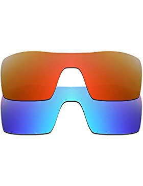 Hkuco Plus Mens Replacement Lenses For Oakley Oil Rig Sunglasses Red/Blue Polarized