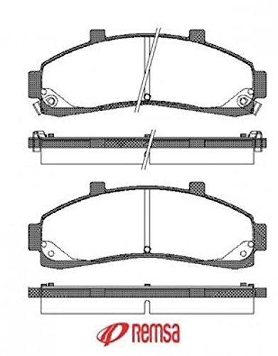 Preisvergleich Produktbild Metzger 0571.02 REMSA Bremsbelagsatz, Scheibenbremse - (4-teilig)