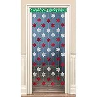 Christmas red & White Snowflake Door Decoration