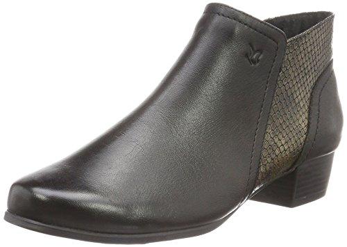 Caprice25307 - Stivali classici imbottiti a gamba corta Donna , Nero (Schwarz (BLK/BLK REPT. 6)), 39