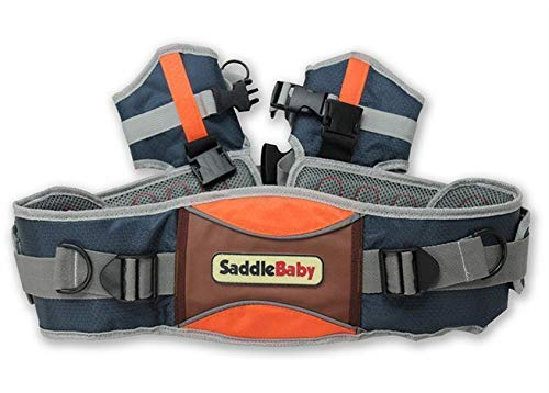 Shoulder Carrier Seat Saddle with Ankle Straps Cozy Seat and All-Direction Safety Protection for Child for Hiking Trails, Camping, Fitness Travel  Designed for Children 2-5 Years Hands-Free:Shoulder Carrier,Reduce the pressure on the your hands. Adjustable:Fits chest sizes ergonomic waist belt. 2