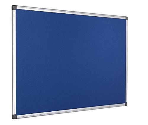 Bi-Office Filztafel Maya, Mit Aluminiumrahmen, Blaue Filzoberfläche, Zum Gebrauch Mit Pinnnadeln, Pinnwand, 120 x 90 cm