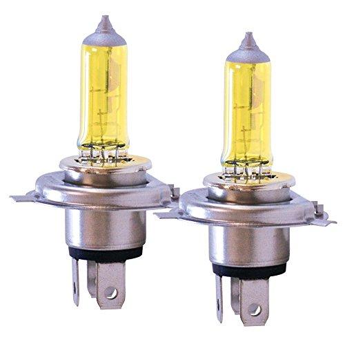 Preisvergleich Produktbild Jurmann® 2x H4 AQUA VISION 12V 60 / 55W Gelb Yellow Halogen Lampen E-Zeichen 2 Stück