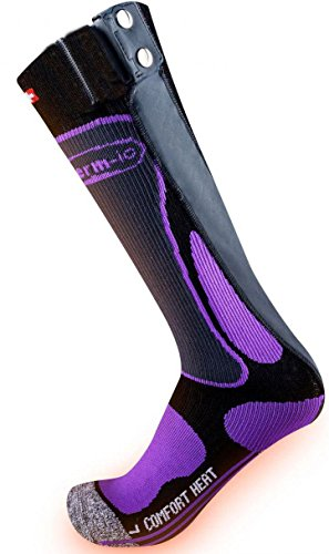 therm-ic - Calcetines con calentador para mujeres Schwarz/Anthrazit/Violett Talla:39-40