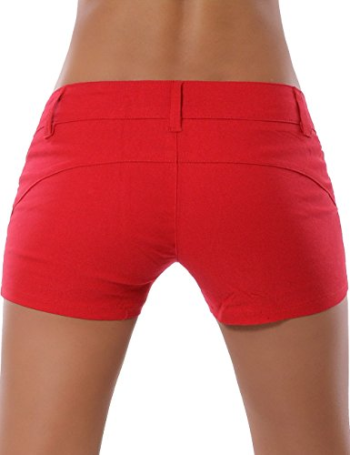 Damen Shorts Hotpants (weitere Farben) No 13777 Rot