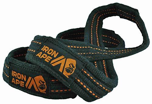 IRON APE Figur 8 Riemen zum Kreuzheben, Gewichtheben, Strümpfe und Gewichtheben Strapazierfähige Baumwolle, 4 Größen, Large