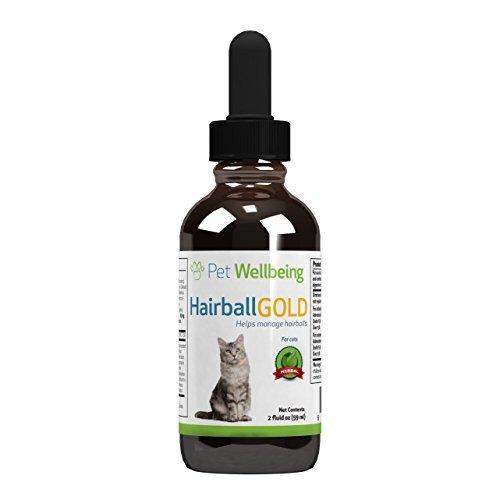 Pet Wellbeing - Oro Bola De Pelo para Los Gatos - Gestión De Bolas De Pelo Natural para Gatos - 2 Oz (59 ML)