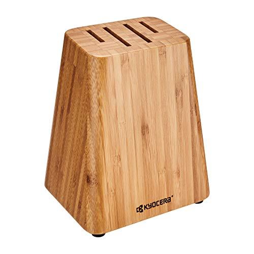 Kyocera 4-Slot Bamboo Knife Block Bamboo Knife Storage Block