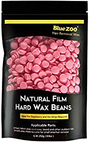 BlueZoo Depilatory Hard Wax Beans - 250 gms Bag - Rose