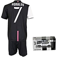 CR7 MUSEU Completo Cristiano Ronaldo 7 Ufficiale Autorizzato Bambino (Taglie-Anni 2 4 6 8 10 12) Adulto (S M L XL) con Firma Stampata Limited Edition + Omaggio Mini Jeep Renegade Juventus (6/7 Anni)