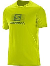 Salomon Blend Logo - T-shirt manches courtes - jaune 2017 tshirt manches courtes