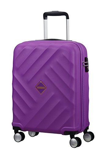 American Tourister Crystal Glow Spinner 55/20 TSA Bagaglio a Mano, Deep Purple, 33 ml, 55 cm