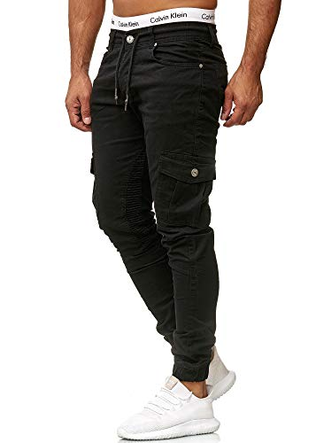 OneRedox Herren Chino Pants | Jeans | Skinny Fit | Modell 3207 Schwarz 36/32 - Herren Schwarz Sakko Jacke