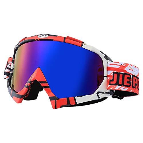 Bishilin Sportbrille Radfahren Motorrad Brille Polarisiert Sicherheitsbrille Damen Rot Schwarz Weiß Schutzbrille