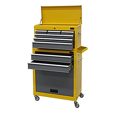 Dirty Pro Tools™ LARGE TOOL CHEST WITH SIDE TRAY AND DRAWER DIVIDER TOP CABINET TOP BOX AND ROLLCAB