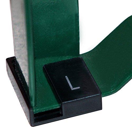 Löwenprinz® - Bodenschoner Satz 12-teilig für Bierzeltgarnitur und Festzeltgarnitur. Einfache Montage praktische Clip- Funktion. FAST UNSICHTBAR. Aus robustem, flexiblem Kunststoff. Schwarz
