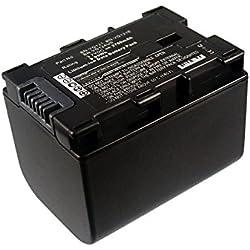 subtel® Batterie premium compatible avec JVC GZ-E15, GZ-EX315, -EX215, GZ-HM550, -HM30, -HM310, -HM330, GZ-HD620, GZ-MG750, GZ-MS110, -MS210 (2700mAh) BN-VG107,-VG108,-VG114,-VG121 Batterie de recharge, Accu remplacement
