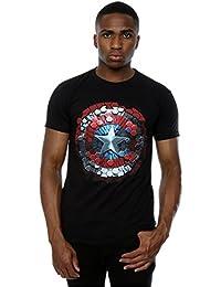 Marvel Men's Captain America Civil War Hex Shield T-Shirt