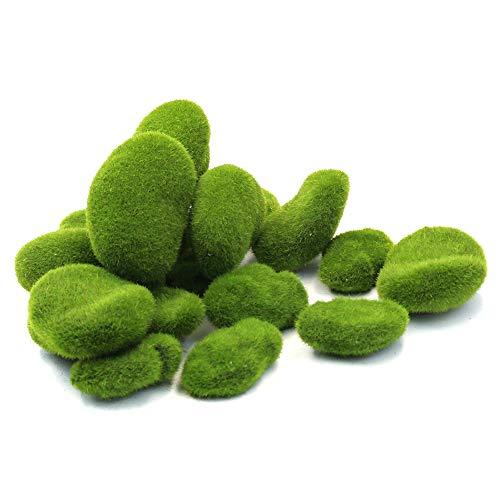 3 Größen Künstliche Moossteine Grünmooskugeln Fuzzy Moosbedeckung Steine ()