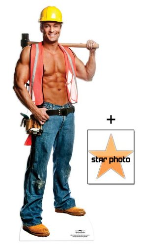 *Fanbündel* - Billy Construction Worker Outfit - Chippendales Lebensgrosse Pappfiguren / Stehplatzinhaber / Aufsteller - Enthält 8X10 (25X20Cm) starfoto - Fanbündel #335