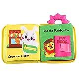 Milya 0-3 Jahre Baby Stoffbuch Tuchbuch Kuschelbuch Lernbuch Knisterbuch Kinder Frühes Lernen Pädagogische Spielbuch