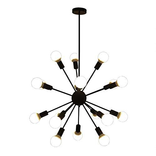 L.HPT Sputnik Kronleuchter Chrome,Retro Innenbeleuchtung Industrielle Deckenbeleuchtung Einfache und Atmosphärische Kreativität Pendellampe Loft(Ohne Glühbirne) - Chrome Kronleuchter