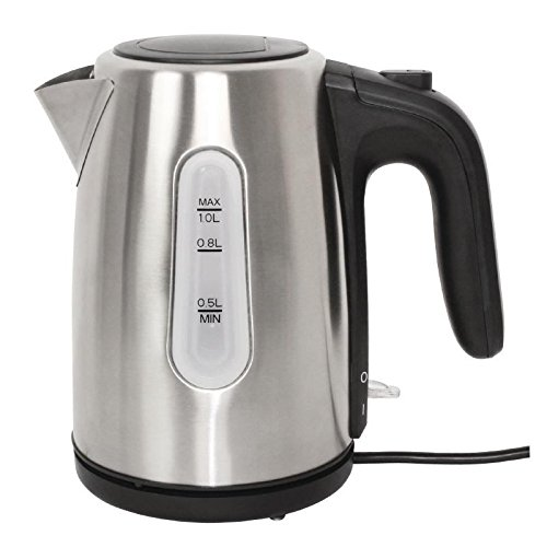 41UFm3cvdfL. SS500  - Caterlite Hotel Kettle Stainless Steel 1Ltr 200x131x215mm Cordless Commercial
