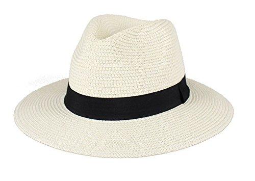 Été Les Hommes Le Chapeau De Voyage Dayan Mao Chapeau De Soleil En Plein Air Chapeau De Paille Chapeau De Plage MilkyWhite