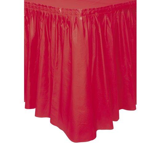unique-party-50053-jupe-de-table-en-plastique-42-m-rouge