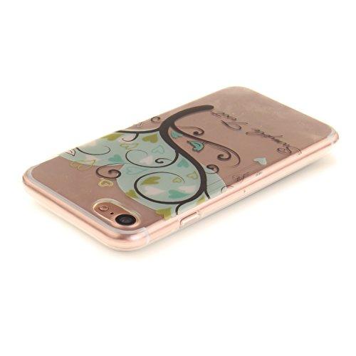 Pour iPhone 7G / 7 Coque,Ecoway Housse étui Flexible protection en TPU Silicone Shell Housse Coque étui creux Slim Case Cover Cuir Etui Housse de Protection Coque Étui iPhone 7G / 7 –magnolia The Giving Tree