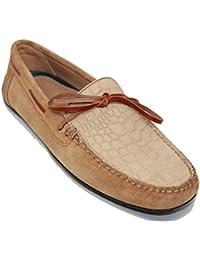 Zapato Mocasín con Lazo JOHN COLEMAN en Ante Grabado e73eea5124d9
