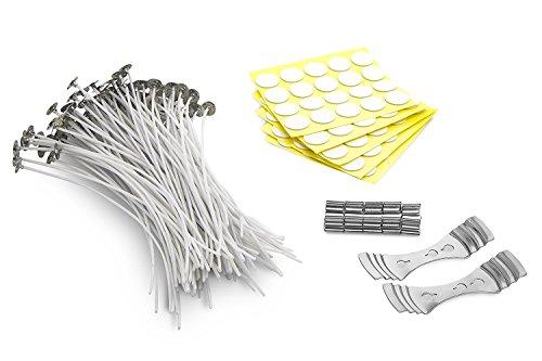 Homepal 20cm Natur Kerzendocht | Low Smoke & ungiftig | für Kerzenherstellung & Kerze DIY (100Stück)