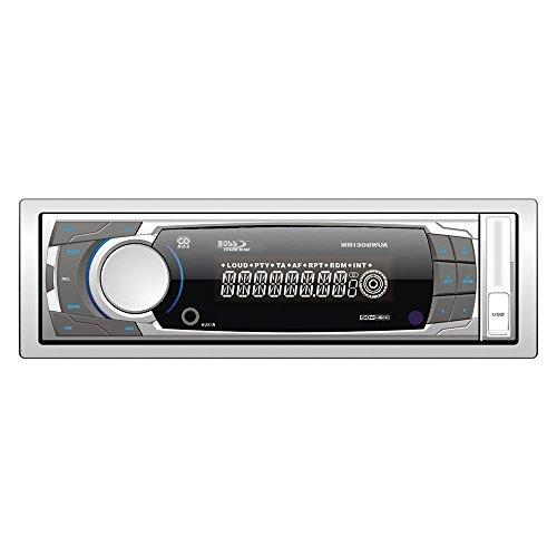 BOSS AUDIO Systems MR1308UAB Bluetooth 200W weiß Multimedia-Receiver Autoradio (am, FM, Weiß, MMC, SD, 200W, 177,8x 184,2x 57,2mm, MP3, WMA)