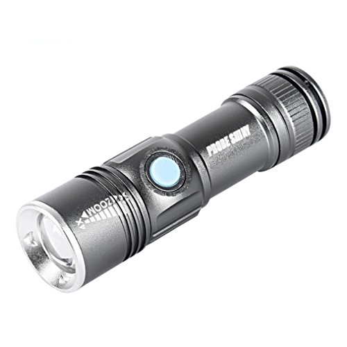 Preisvergleich Produktbild Kaiki Taschenlampe - Verstellbare LED-Zoom 3000LM MINI USB wiederaufladbare Taschenlampe Tragbar