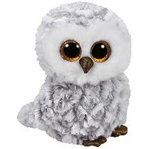 TY - Beanie Boos Owlette, búho, 15 cm, color gris (United Labels Ibérica 37201TY)