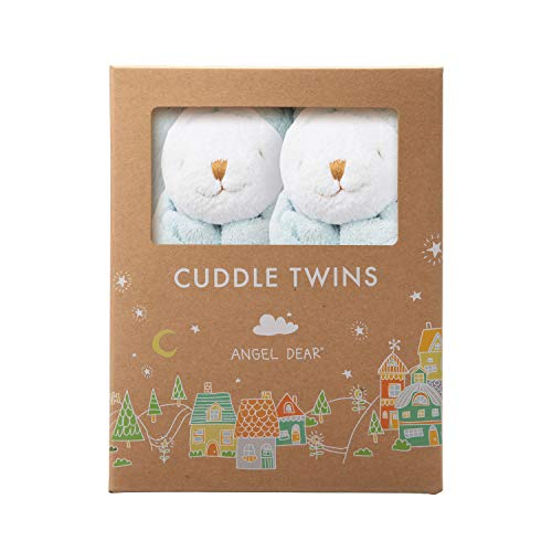 Angel Dear Baby Blankie Cuddle Twin Set-Bunny Blue