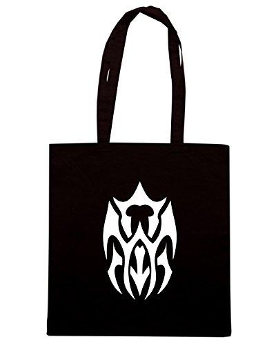 T-Shirtshock - Borsa Shopping FUN0447 2276 tribal sticker design 08 91174 Nero