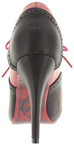 Banned, Scarpe col tacco donna Rosso (Red-Black)