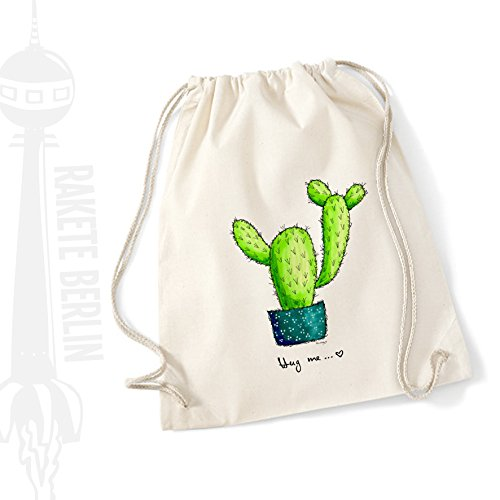 Turnbeutel Baumwolle \'Kaktus - Hug me\'