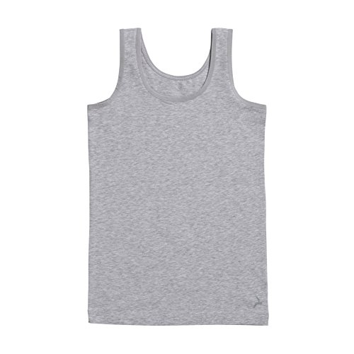 Ten Cate Mädchen Unterhemd Tank-Top Basic - Baumwoll-Mix - grau meliert - Größe 98/104 (TC-30048-955-104)