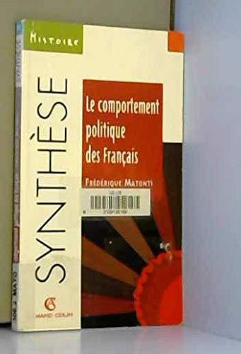 Le comportement politique des Français par Frédérique Matonti