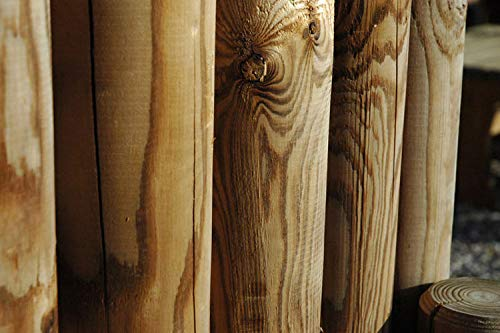 Palisade Longlife 80cm Pfahl Ø9,5cm Thermoholz Beeteinfassung Sichtschutz Holz Neu