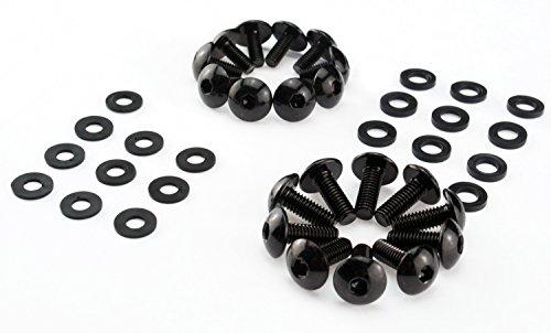 M5 M6 Schrauben Motorrad Verkleidungsschrauben Auto Roller breite Schrauben schwarz Unterlegscheiben Kunststoff